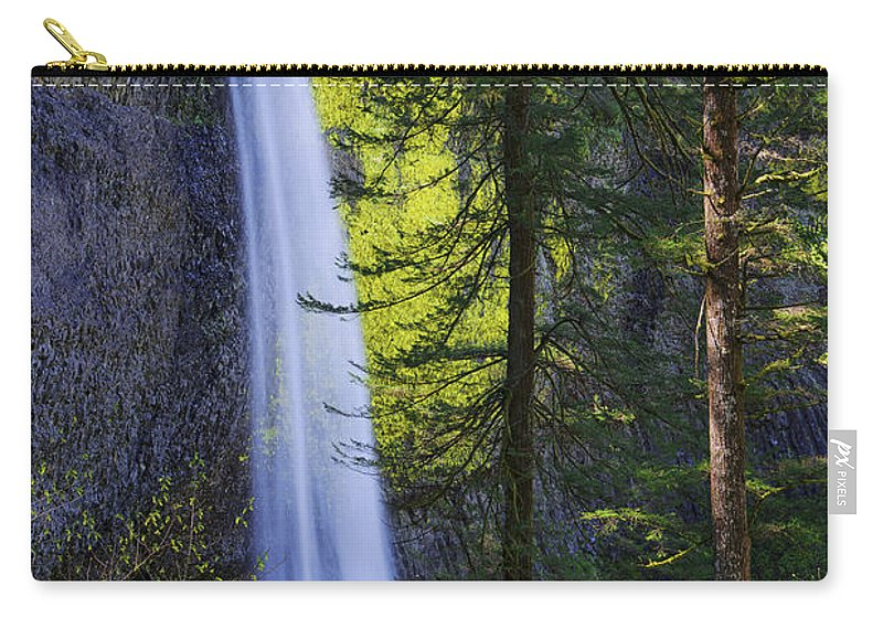 Forest Mist Carry-all Pouch featuring the photograph Forest Mist by Chad Dutson
