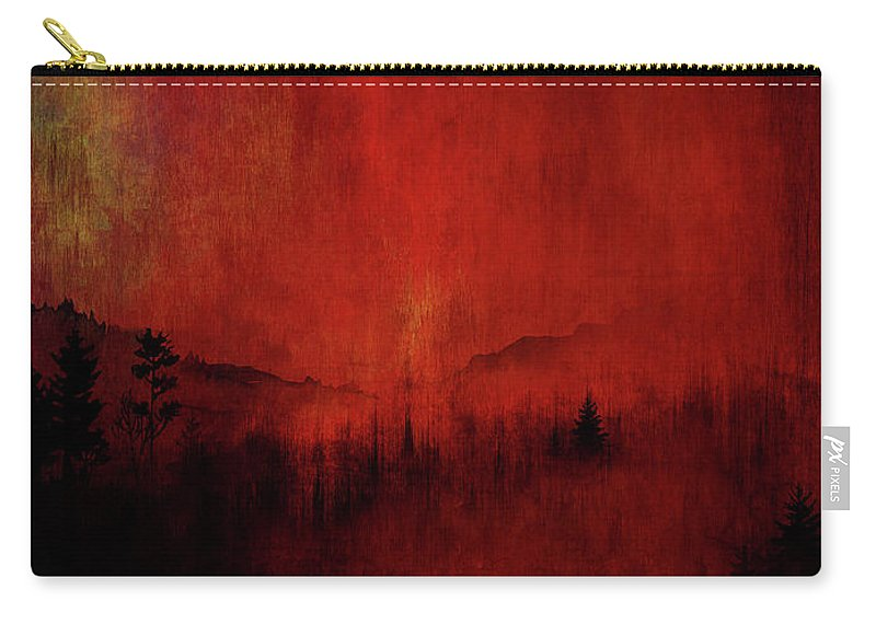 Painting Carry-all Pouch featuring the painting Forest Red by Christina VanGinkel