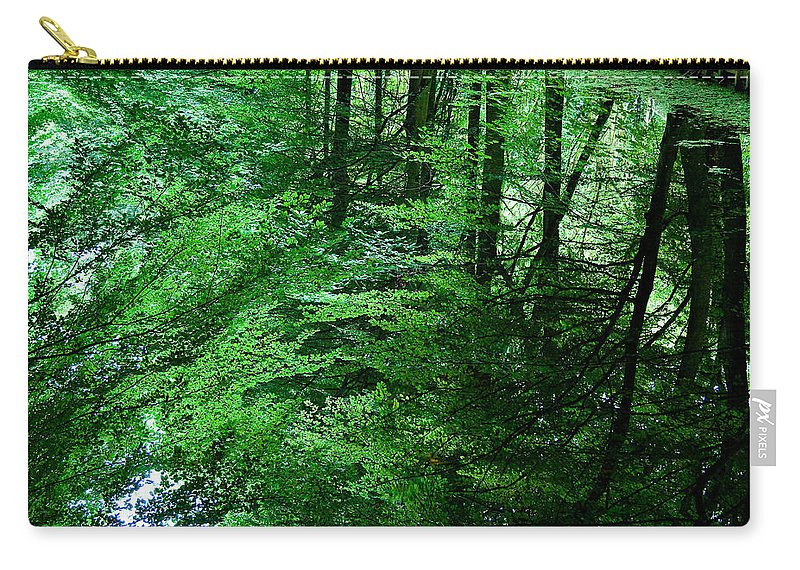Forest Carry-all Pouch featuring the photograph Forest Reflection by Dave Bowman