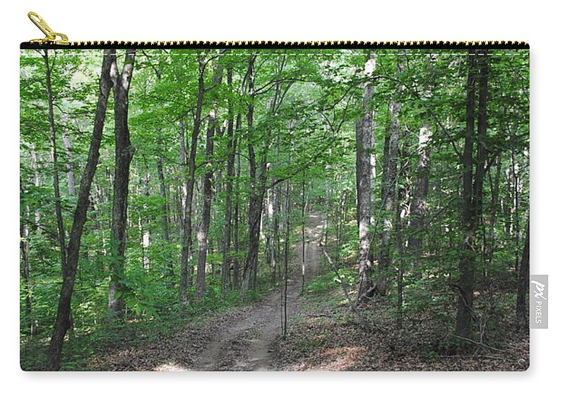 Forest Carry-all Pouch featuring the photograph Forest Road by Jost Houk