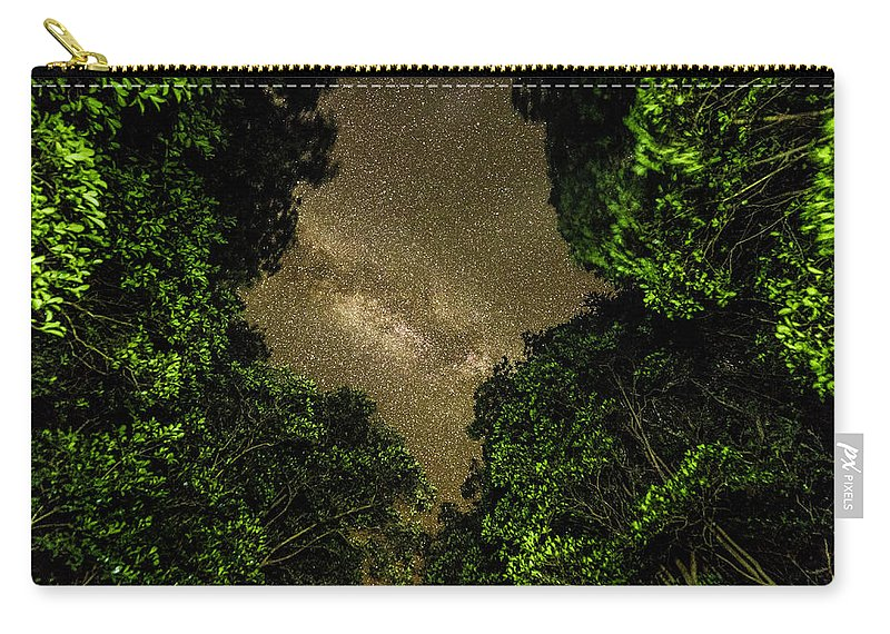 Forest Carry-all Pouch featuring the photograph Forest Star Patch by T Brian Jones