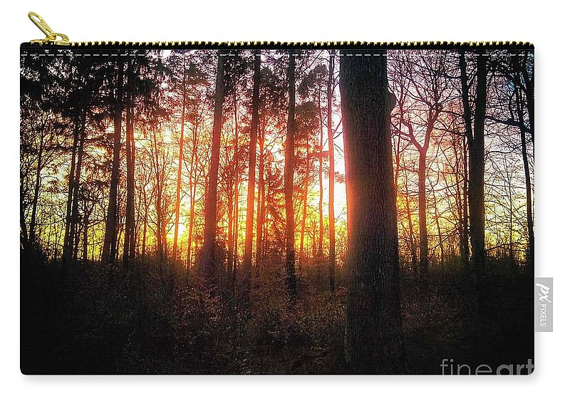 Forest Carry-all Pouch featuring the photograph Forest Sunset by Ad Salaheddine