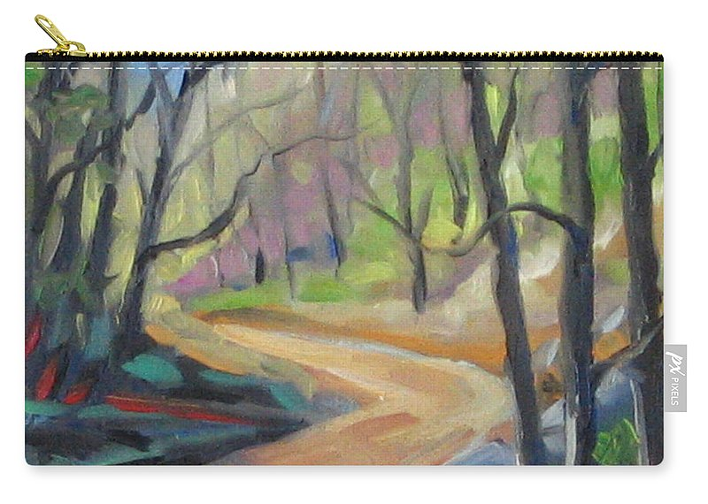 Art Carry-all Pouch featuring the painting Forest Way by Richard T Pranke