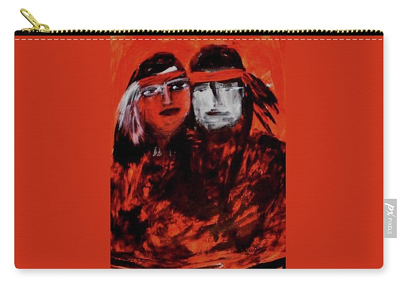 Gift Item Carry-all Pouch featuring the painting Forever Love by Marilyn St-Pierre