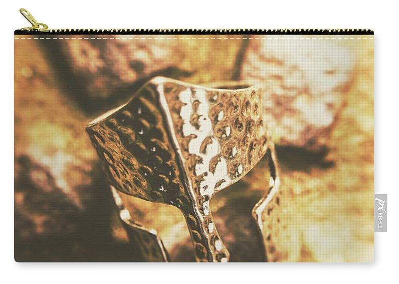 Crusades Carry-all Pouch featuring the photograph Forged In The Crusades by Jorgo Photography - Wall Art Gallery