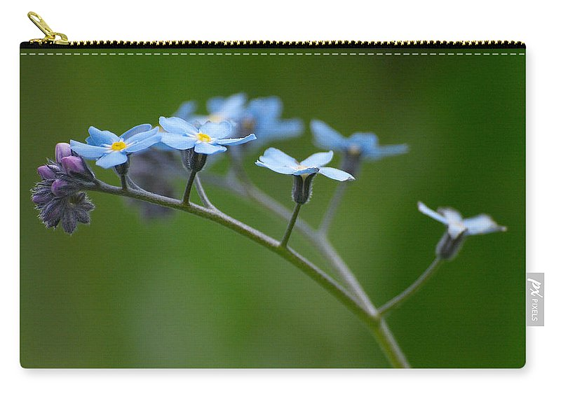 Lehtokukka Carry-all Pouch featuring the photograph Forget-me-not 2 by Jouko Lehto