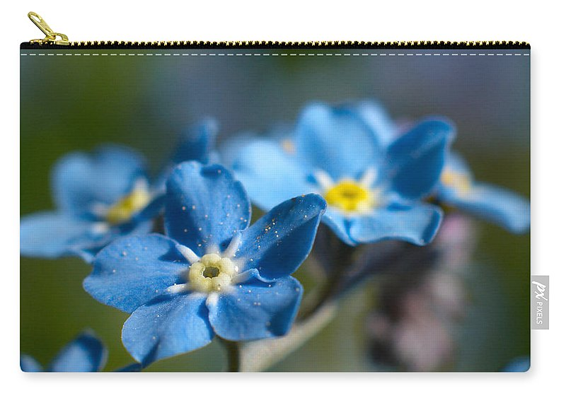 Lehtokukka Carry-all Pouch featuring the photograph Forget -me-not 3 by Jouko Lehto