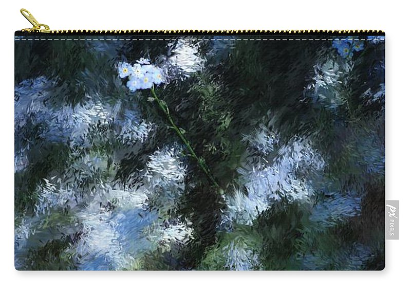 Abstract Carry-all Pouch featuring the digital art Forget Me Not by David Lane