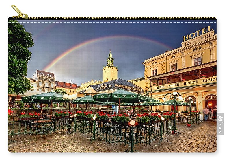 Ukraine Carry-all Pouch featuring the photograph Forget Me Not by Evelina Kremsdorf