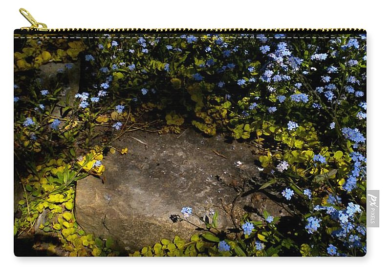 Nature Carry-all Pouch featuring the painting Forget-me-nots 1 by Renate Nadi Wesley