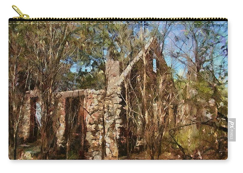 Abandon Carry-all Pouch featuring the painting Forgotten by Jeffrey Kolker