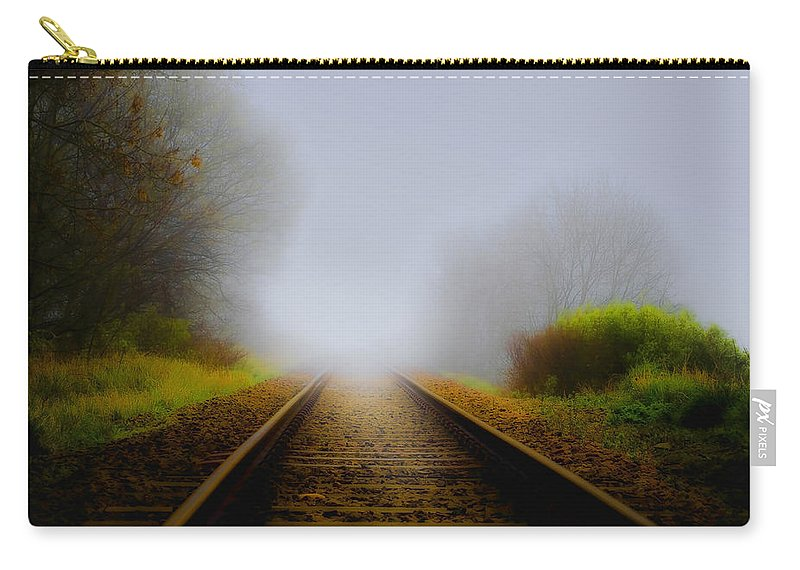 Art Carry-all Pouch featuring the photograph Forgotten Railway Track by Svetlana Sewell
