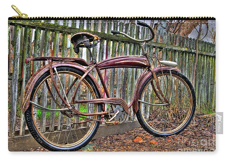 Bicycle Carry-all Pouch featuring the photograph Forgotten Ride 1 by Jim And Emily Bush