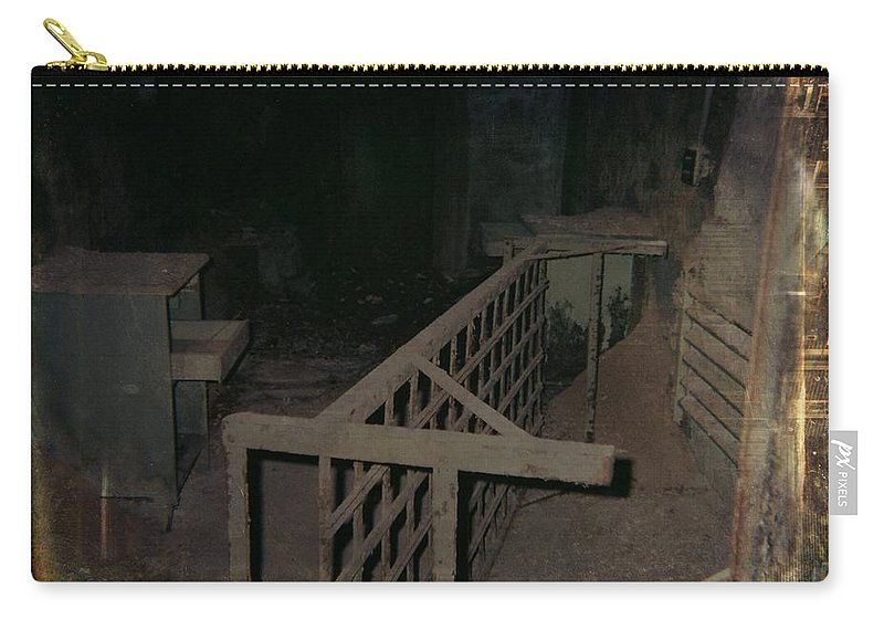 Abandoned Building Carry-all Pouch featuring the photograph Forgotten Room by Gothicrow Images