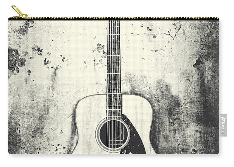 Guitar Carry-all Pouch featuring the photograph Forgotten Words by Emily Kay