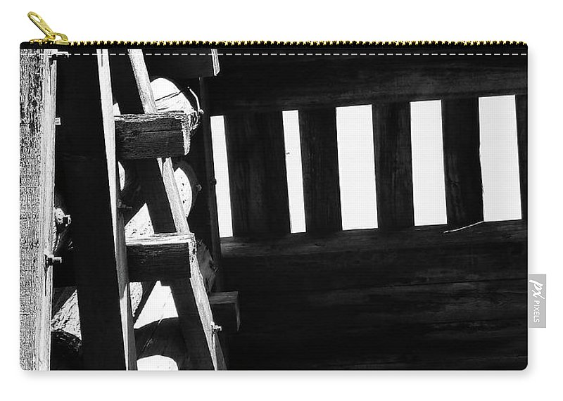 Black And White Carry-all Pouch featuring the photograph Form And Function 3 by Xueling Zou