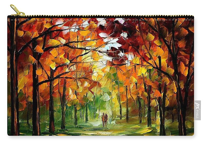 Jandscape Carry-all Pouch featuring the painting Forrest Of Dreams by Leonid Afremov