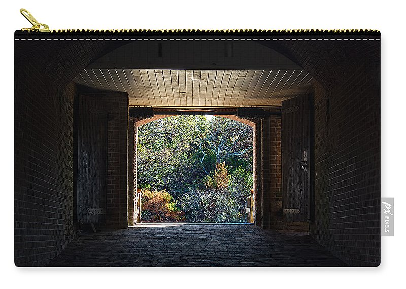 Scenery Carry-all Pouch featuring the photograph Fort Clinch Portal by Kenneth Albin