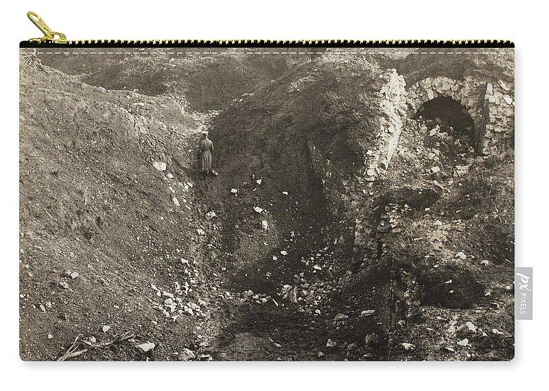 1914 Carry-all Pouch featuring the photograph Fort De La Malmaison by Granger