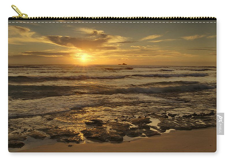 Landscape Carry-all Pouch featuring the photograph Fort Haze Beach by Michael Peychich