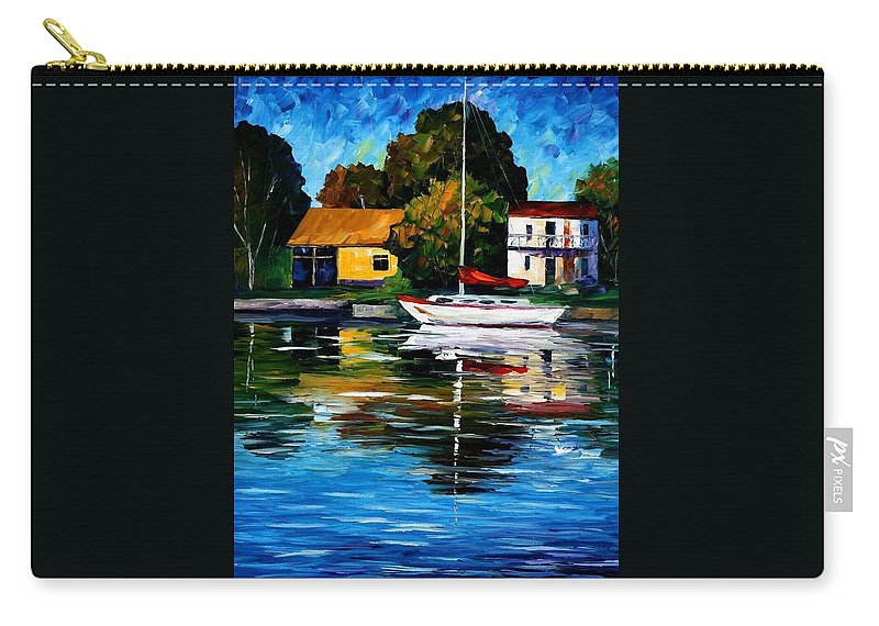 Afremov Carry-all Pouch featuring the painting Fort Lauderdale - Florida by Leonid Afremov