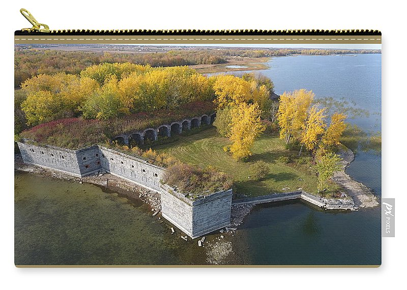 Fort Carry-all Pouch featuring the photograph Fort Montgomery Fall by Jedidiah Thone