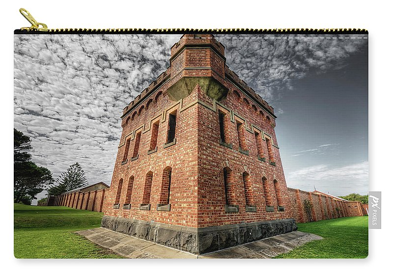 Fort Carry-all Pouch featuring the photograph Fort Queenscliff by Wayne Sherriff