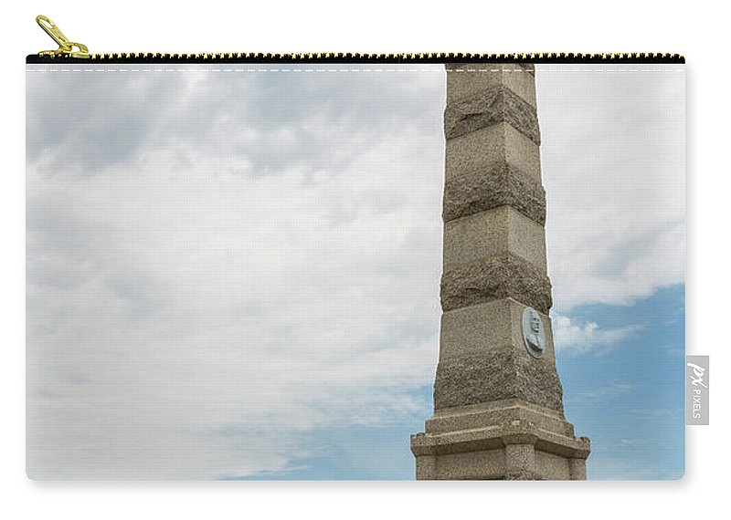 Fort Carry-all Pouch featuring the photograph Fort Ridgely Memorial 1 by John Brueske