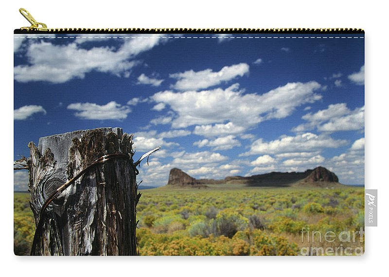 Caldera Carry-all Pouch featuring the photograph Fort Rock by Rick Bures
