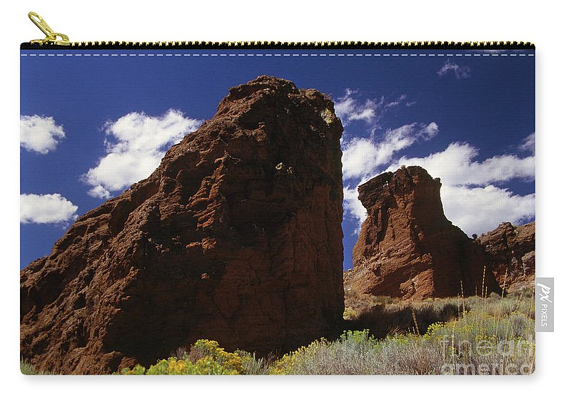 Caldera Carry-all Pouch featuring the photograph Fort Rock Twin Towers- H by Rick Bures