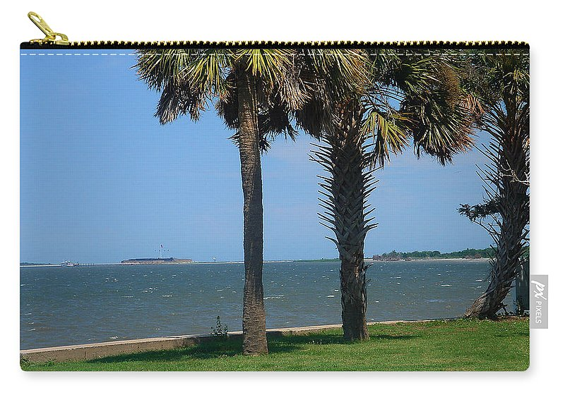 Photography Carry-all Pouch featuring the photograph Fort Sumter Charleston Sc by Susanne Van Hulst