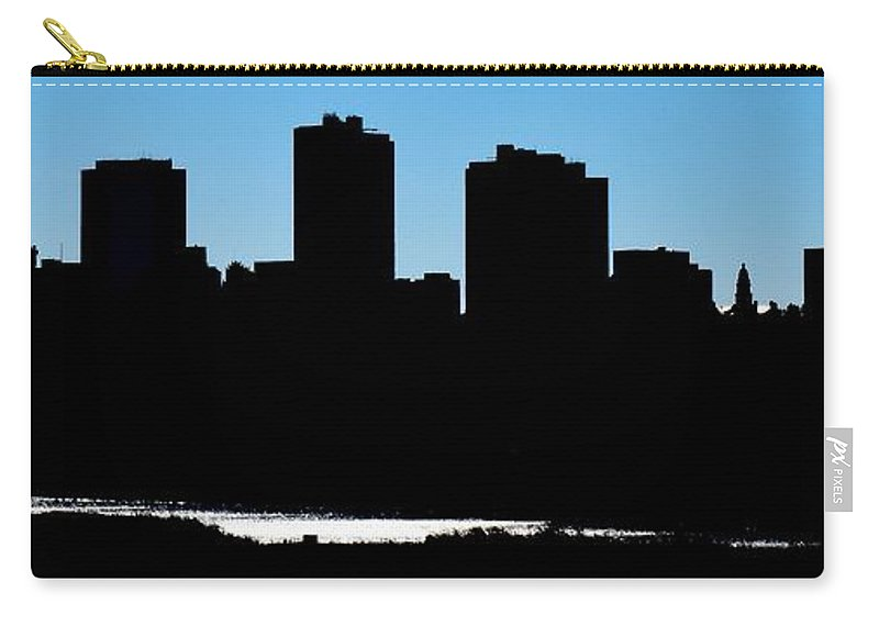 Fort Carry-all Pouch featuring the photograph Fort Worth Silhouette by Frozen in Time Fine Art Photography