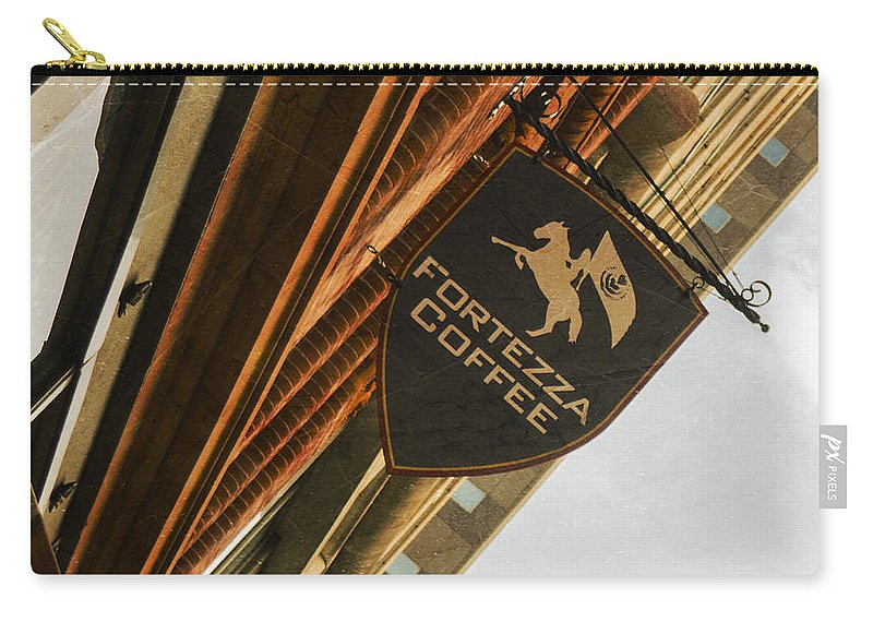Sign Carry-all Pouch featuring the photograph Fortezza by Michael Colgate