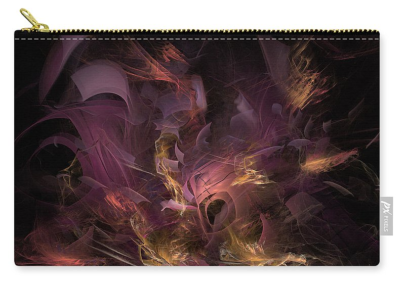 Abstract Carry-all Pouch featuring the digital art Fortress Of The Mind - Fractal Art by NirvanaBlues