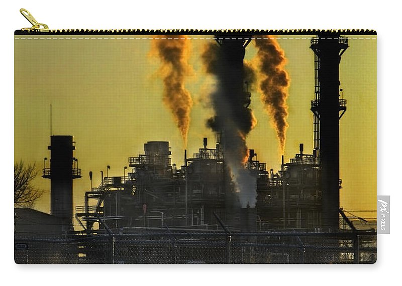Smoke Carry-all Pouch featuring the photograph Fossil Fuels by Jeffery Ball
