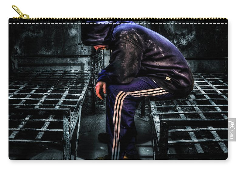 Cell Carry-all Pouch featuring the photograph Found Guilty by Evelina Kremsdorf