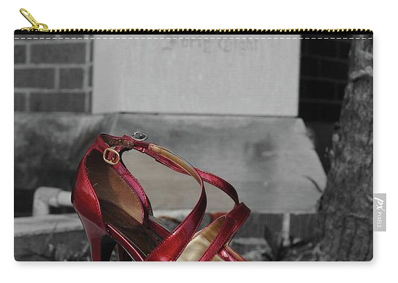 Red Carry-all Pouch featuring the photograph Found Salvation                        by Jost Houk