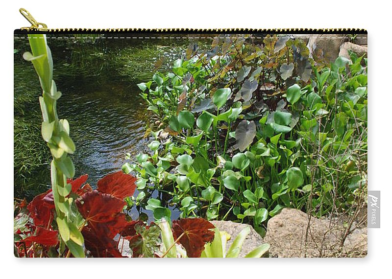 Macro Carry-all Pouch featuring the photograph Fountain Flowers by Rob Hans