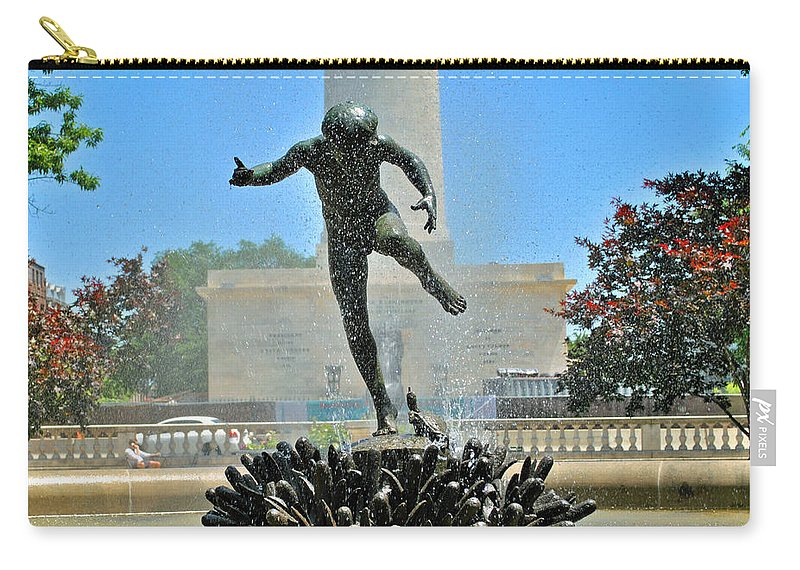 Boy Carry-all Pouch featuring the photograph Fountain In Spring by Jost Houk