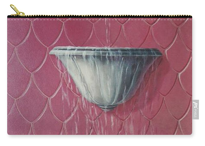 Fountain Carry-all Pouch featuring the painting Fountain Of Youth by Suzn Art Memorial