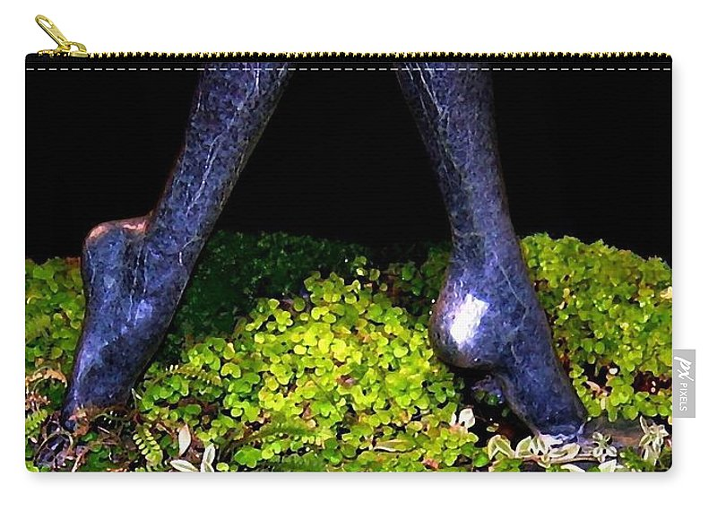 Sculpture Carry-all Pouch featuring the photograph Fountain Sculpture by Will Borden