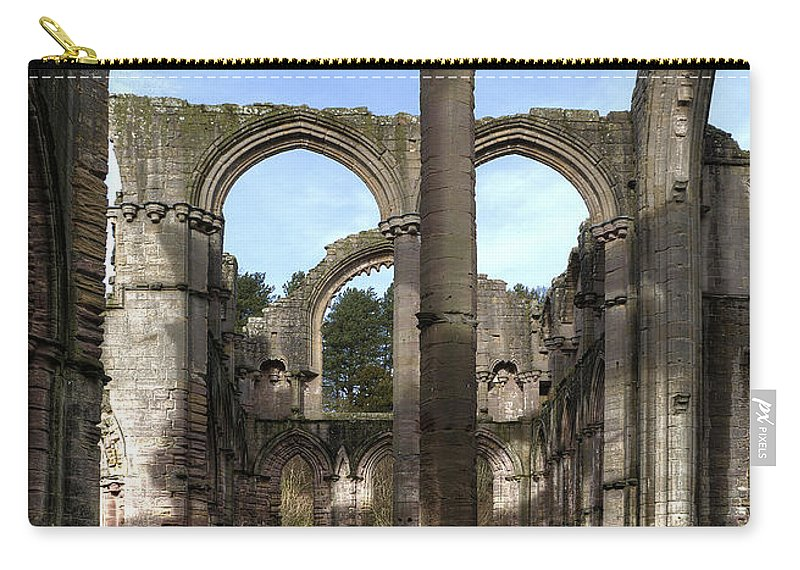Castle Carry-all Pouch featuring the photograph Fountains Abbey 4 by Svetlana Sewell