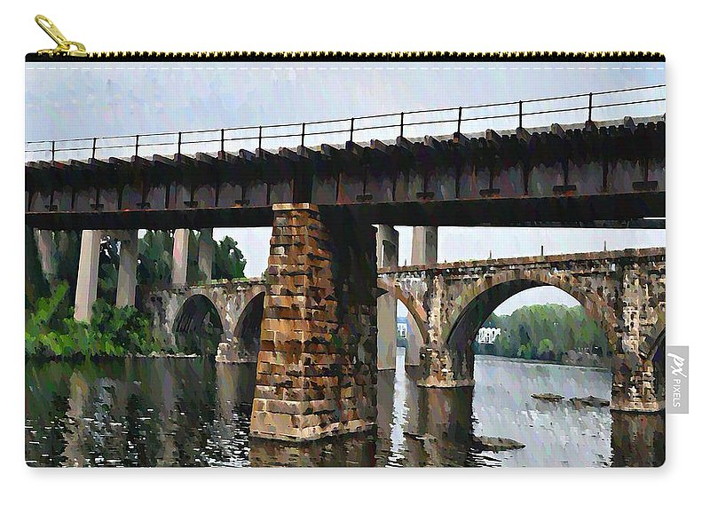 Bridge Carry-all Pouch featuring the photograph Four Bridges Of East Falls by Bill Cannon