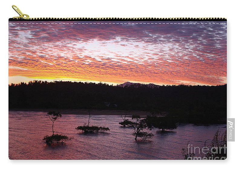 Landscape Carry-all Pouch featuring the photograph Four Elements Sunset Sequence 3 Coconuts Qld by Kerryn Madsen - Pietsch
