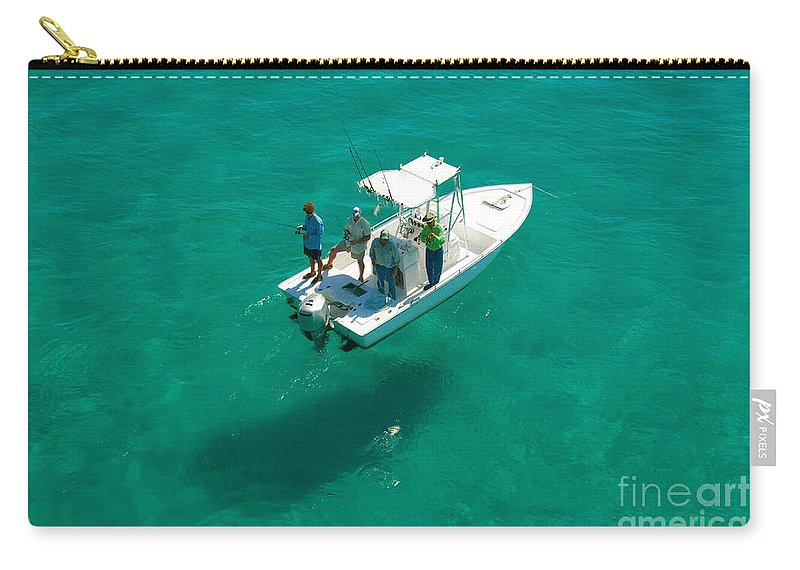 Fishing Carry-all Pouch featuring the photograph Four Fishermen by David Lee Thompson