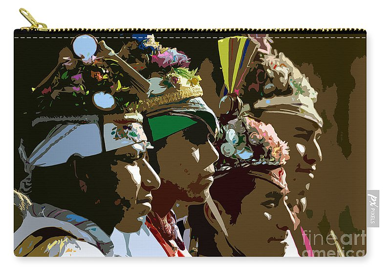 Men Carry-all Pouch featuring the painting Four Flyer's by David Lee Thompson
