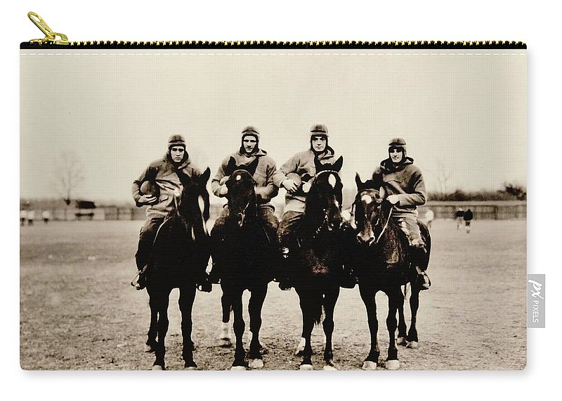 Notre Dame Carry-all Pouch featuring the photograph Four Horsemen by Benjamin Yeager