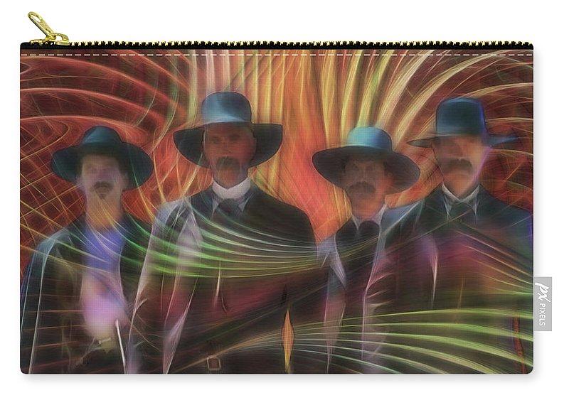 Four Horsemen Carry-all Pouch featuring the digital art Four Horsemen by John Beck