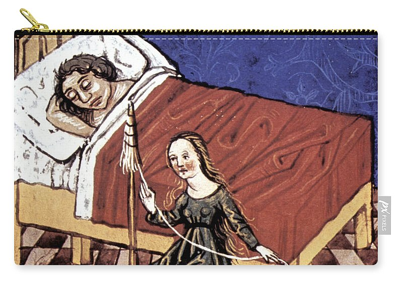 Bed Carry-all Pouch featuring the photograph Four Humors: Melancholia by Granger