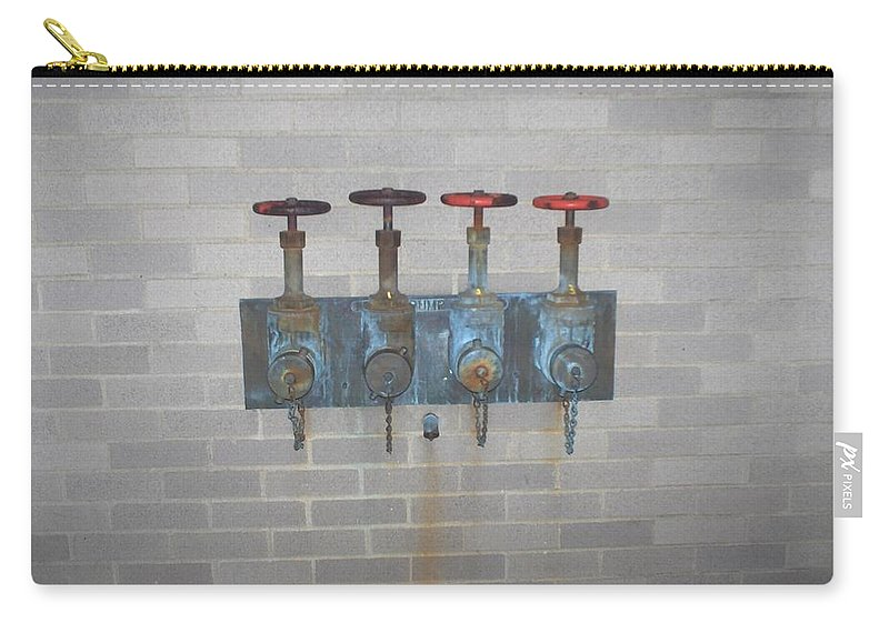 Photograph Carry-all Pouch featuring the photograph Four Pipes by Thomas Valentine